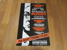Richard Todd in the Business of Murder 7th Year Original MAYFAIR Theatre Poster