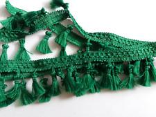 Fringe Tassel Trim, Bobble Ribbon, Tape with Tassels for curtains craft - GREEN