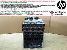 HP BLc7000 G3 recinto solución SAN iSCSI de 10 GB 14.7TB de 128 núcleos 1024GB Ram