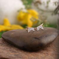 9 Karat Gold Ohrstecker Natürliche HALBSTERN Diamant Edelstein Ohrringe