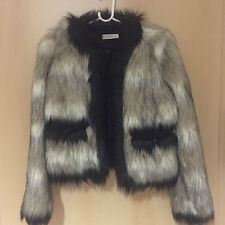Lanvin for h&m chaqueta fell chaqueta Fake fur EUR talla 38 size us 8 UK 12