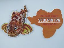 BEER Coaster ~ BALLAST POINT Brewing Sculpin IPA ~ San Diego, CALIF ~ Funky Fish