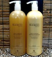 Alterna Bamboo Smooth Anti Frizz Shampoo & Conditioner 33.8 oz Liter Set Duo