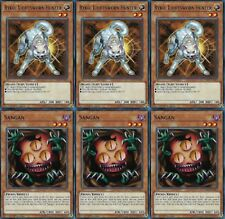 Ryko, Lightsworn Hunter* X 3 1st Mint YS17-EN017 YUGIOH + Sangan* X 3