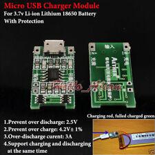 5V 1A Micro USB 3.7V Li-ion Lithium Lipo 18650 Battery Charger Protection Board