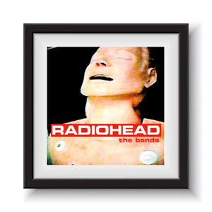 """Radiohead - The Bends   12"""" Album Cover - Framed 16"""" x 16"""""""
