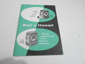 1950s/1960s MOVIE CAMERA manual #32 - BELL & HOWELL 8MM MAGAZINE LOAD