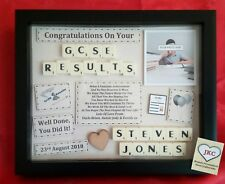 GCSE EXAM RESULTS CONGRATULATIONS PERSONALISED FRAME PICTURE  KEEPSAKE GIFT
