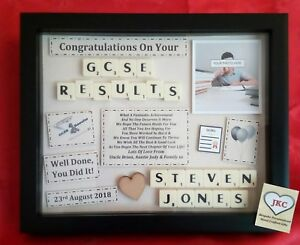 GCSE EXAM RESULTS Congratulations GIFT FRAME Personalised Picture Keepsake