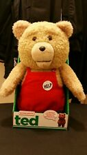 Talking Ted 16-inch  R-Rated Teddy Bear In Red Apron Explicit BRAND NEW IN STOCK