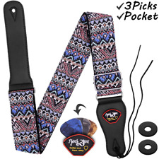 Guitar Strap Acoustic Bass Woven Hootenanny Style Cool Vintage Pattern