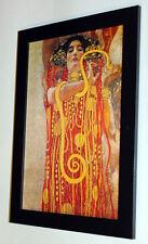 Gustav Klimt Hygeia framed giclee canvas print 8X12 art reproduction poster