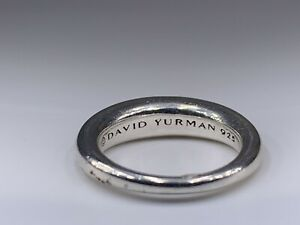 DAVID YURMAN Sterling Silver Pure Form 1 Stack Rings sz 5.5
