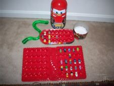 MIGHTY BEAN TIN Lot Cars McQueen excl Cars Piston Cup Case & 19 Beans Ja Ru too