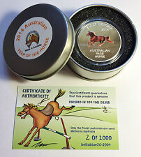 "2014 Year Of The Horse ""Aust Brumby"" 1 Oz Coin and Tin C.O.A. LTD 1,000."
