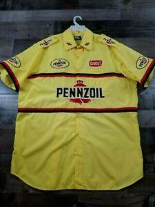 Vintage PENNZOIL RACING INDY CAR Crew Shirt John Andretti INDY 500 Size XXL