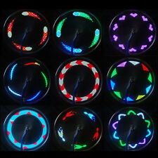 Motorcycle Cycling Bicycle Bike 14 LED Wheel Signal Tire Spoke Light 30 Changes