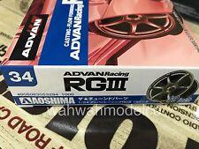 Aoshima 53294 Tuned Parts 34 1/24 Advan Racing RG3 19inch Tire & Wheel Set