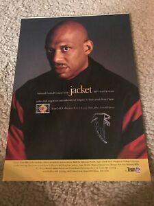ATLANTA FALCONS TEAM NFL STARTER WOOL JACKET Poster Print Ad KAREEM ABDUL JABBAR