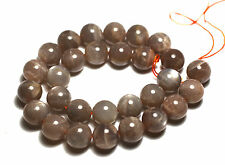 """15.5"""" LARGE SHINY HIGH QUALITY Moonstone Natural Round 28 Beads 14mm K3206"""