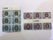 1977 Elizabeth II Silver Jubilee Stamps.