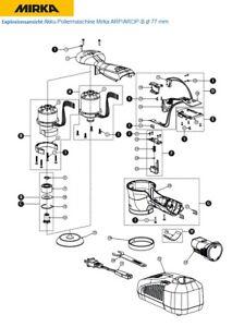 Mirka Rechange Pour Batterie-Polisseuse Mirka Arp / Arop-B Ø 77 MM