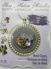 Blue Moon Beads 5 pcs Metal Charms Religious Cross Angel Bird Crystal