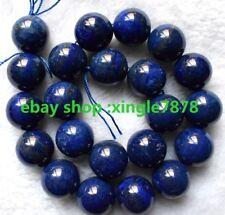 "Natural 12mm Blue Lapis Lazuli Round Gemstones Loose Beads 15""AAA++"
