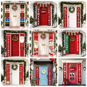 Christmas Porch Banner Hanging Sign Home Xmas Party Decor Door Ornaments*