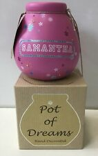 Pot of Dreams - Samantha Decorated Money Box Piggy Bank Brand New