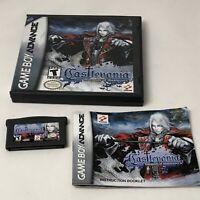 Castlevania Harmony of Dissonance Game Boy Advance GBA Genuine DS case manual