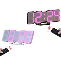3D Wireless Remote Digital Wall Alarm Clock,115 Color Variations Of Led Dig V7Q3