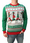 Ugly Christmas Sweater Men's Big And Tall Abbey Road Beatles Light Up Sweatshirt