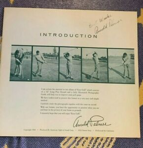 ARNOLD PALMER AUTOGRAPHED ALBUM INSERT 12 PAGE 1958 SMACKIN & HACKIN ~ARNIE ARMY