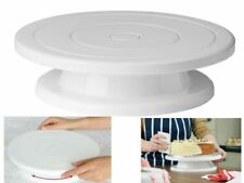 28cm Cake Making Decorating Icing Plastic Rotating Turntable Home Display Stand