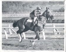 1940 Binglin Stables Horse Don Mike During Workout Press Photo