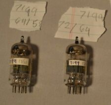 Vacuum Tube 7199 Tested Lot - 2 Tubes - Westinghouse - O Getters