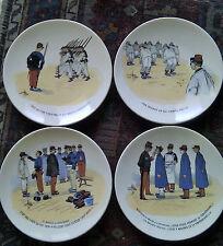 Sarreguemines rare série complète de 12 assiettes Mon Régiment U&C fin XIXe