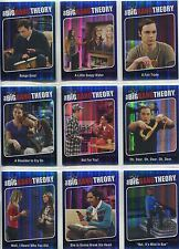 The Big Bang Theory Season 5 Complete Quotable Chase Card Set QTB 1-9