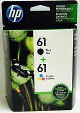 HP 61 Color Negro Nuevo Original Cartuchos De Tinta NB Deskjet 3054 3511 2547 Envy 5539