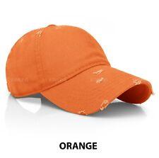 Distressed Cotton Baseball Ball Cap Hat Dad Vintage Solid Blank Plain Men Women