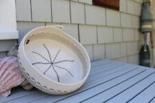 Handmade Rope Basket Natural and Charcoal Gray
