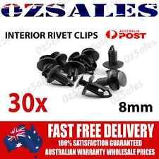 30X 8mm Hole Black Plastic Rivet Interior Trim Panel Car Door Retainer Clips org