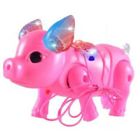 Cute Electric Music Walking Pig Toys Led Light Glow Electronic Pets Lantern A6T6