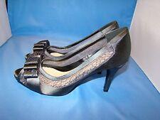 Women's MENBUR 'Liatris' Lace Insert Bow High Heels Shoes Size-39 Gray