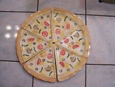 NOBLE EXCELLENCE PIZZA 201 CERAMIC PIZZA SHAPED PLATE SET