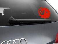 Yin Yang Dragon Car Sticker Window Styling Decal, Red