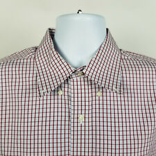 Brooks Brothers Regent Non Iron Blue Red Check Mens Dress Button Shirt 16.5 4/5