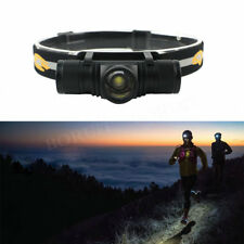10000Lm Zoomable 4Modes XM-L2 LED  Headlamp Hunting Camping Headlight USB Cable