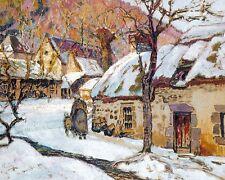 Victor Charreton  Snow Around Murols  - 24'  CANVAS